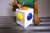 You play the Skoog by physically interacting with it