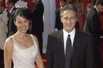 Jon and Tracey Stewart at the Emmys in 2013