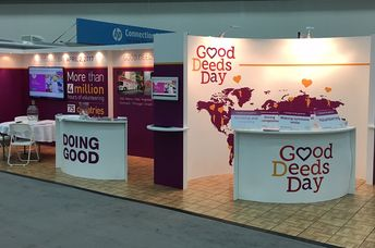 The Good Deeds Day booth at the 2016 Points of Light conference