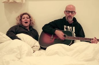 Moby and Mindy Jones perform