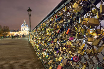 Hundreds of thousands of love-locks were once affixed to the many bridges crossing the Seine in Paris. (Curtis Simmons/CC BY-NC 2.0)