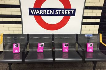 Hundreds of books are hidden all around the London Tube, some in plain sight and others in harder to find places. (Booksontheunderground)