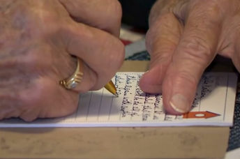 Alleen Cooper, 98, started writing letters to soldiers during World War II. (Inside Edition/YouTube)