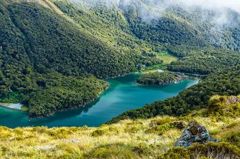 Lake McKenzie overlook, Routeburn track, South island of New Zealand