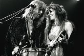 Christine McVie and Stevie Nicks perform at The Omni Coliseum in Atlanta, Georgia in 1977