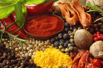 Healthy herbs and spices that reduce inflammation.