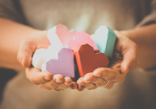 Giving from the heart (Shutterstock)