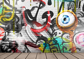 Graffitti art on the boardwalk