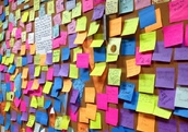 Post-it notes at Rosa's Fresh Pizza
