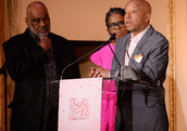 Russell Simmons speaking at the Rush Philanthropic Arts Foundation's annual Rush HeARTS Education Valentine's Luncheon