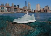 Adidas running shoes made from ocean trash
