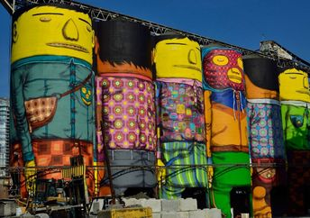 Distinctive street art by Os Gemeos