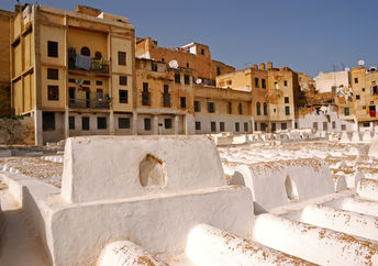 Jewish cemetery in Fes, Morocco