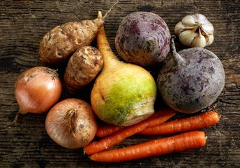 assortment of winter vegetables