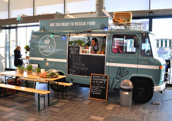 The Instock food truck in action