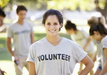 volunteer smiling