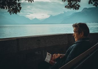 A man reading