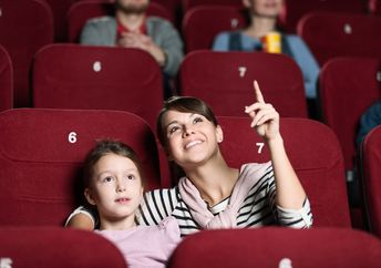 A family at the cinema