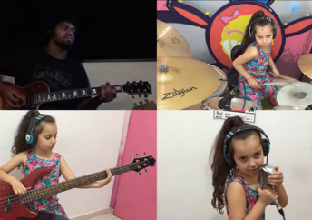 Eduarda Henklein covers AC/DC's TNT together with her father on the guitar