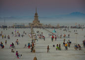 Burning Man focuses on self expression, experimentation, community, art, and self love. (Shutterstock)