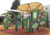 Inspired by the classic children's book The Giving Tree, every tap, twist, and turn of this incredible playground yields a different scenario of play. (KKL-JNF)