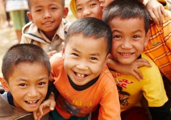 These boys from Laos learned how to read thanks to the efforts of Pencils of Promise. (Pencils of Promise)