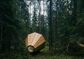 The massive megaphones are part of an acoustic installation in Estonia's gorgeous Pähni Nature Centre. (Tõnu Tunnel)