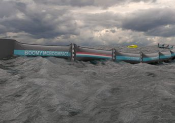 The giant boom was aptly named Boomy McBoomface. (The Ocean Cleanup)