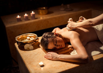 Young girl on a spa massage