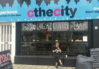 The storefront of the CtheCity coffee bar