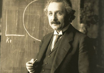 Albert Einstein in 1921 after winning the Nobel Prize for physics.