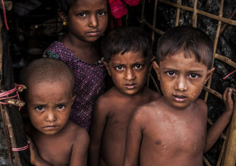 Rohingya refugees at Bangladesh Camp