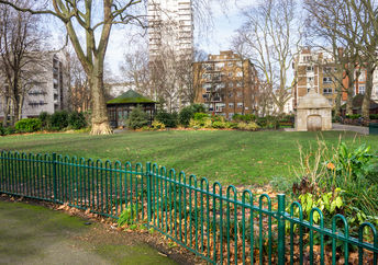 Green spaces in London.