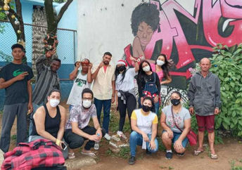 Youth volunteering on Good Deeds Day in Brazil,