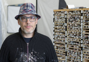 Artist Bradley Hart in his New York studio.