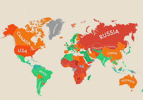 A Map of Happiness Around the World [INFOGRAPHIC] - Goodnet Map Happy on