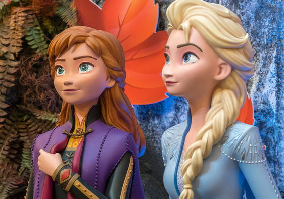 Anna and Ilse from Disney movie Frozen