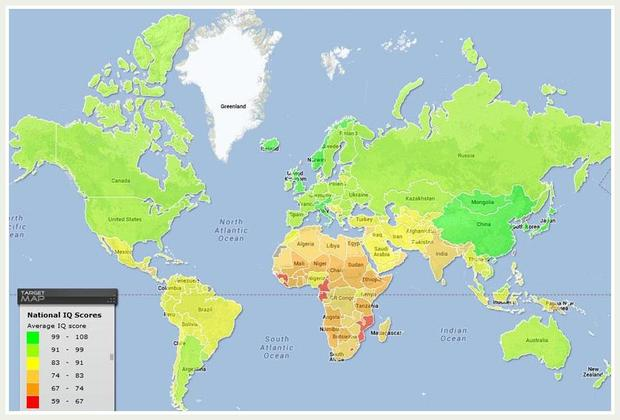 Maps To Change How You See The World Goodnet - Iq map of us