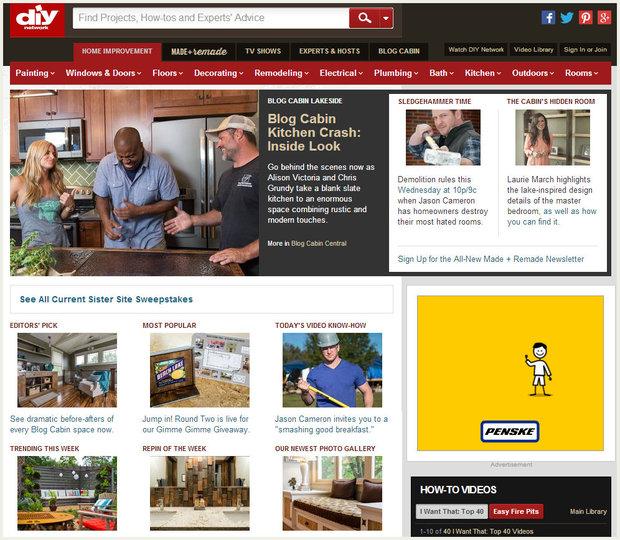 Screenshot Of Diy Network