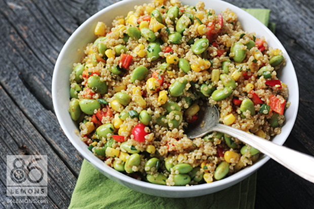 6 easy vegan recipes for every meal of the day goodnet quinoa corn edamame salad an easy vegan recipe forumfinder Choice Image