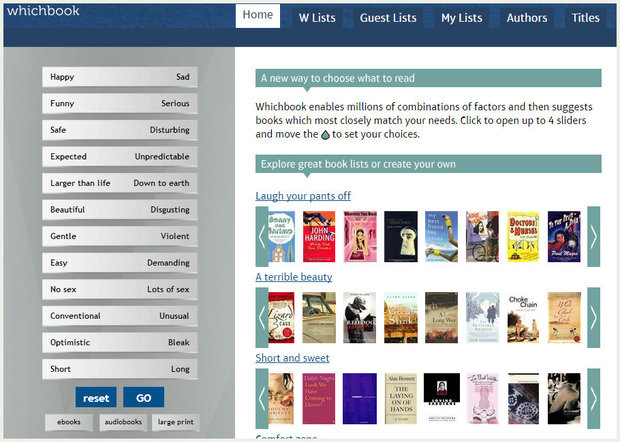 Screenshot of WhichBook