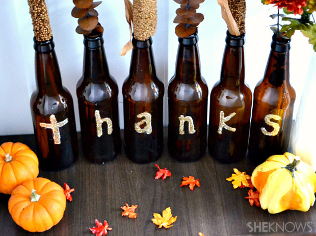 7 green thanksgiving craft ideas list goodnet for Beer bottle decoration ideas