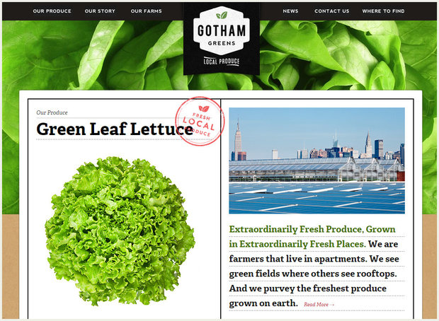 Screenshot of Gotham Greens