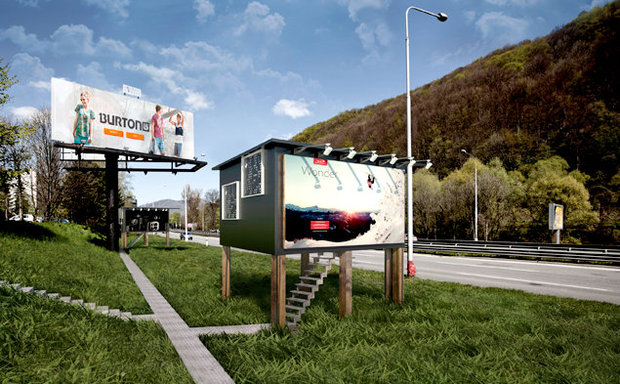 What a billboard home will look like from the outside