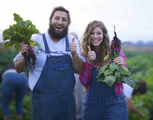 First Generation Farmers Allie Cecchini, 26, and Christian Olesen, 24