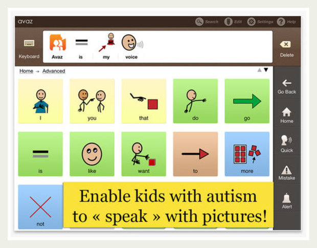 Avaz app for autistic children