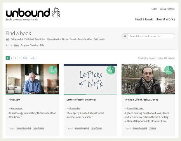 Unbound crowdfunding site