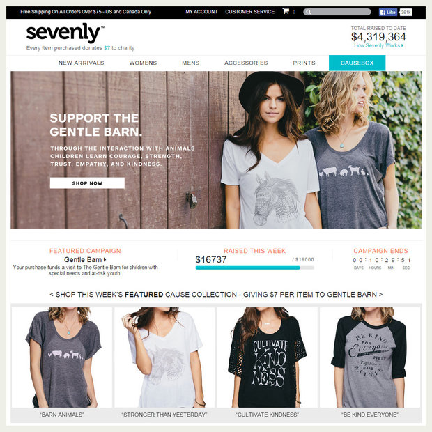 Sevenly crowdfunding site