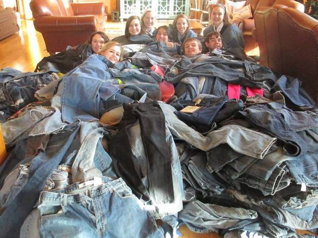 Collecting denims for homeless youth