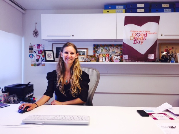 Hannah Wojno at the Good Deeds Day offices